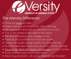 The eVersity difference: No fees. Free Application. We acquire your transcripts for you at no cost!